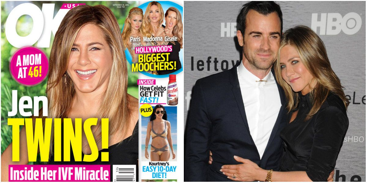 Jennifer Aniston estaría embarazada de mellizas a los 46 años: ecografía y nombres