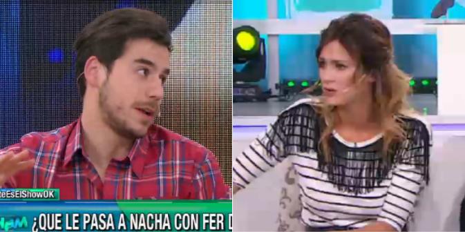 Mientras Fer Dente hablaba de Nacha Guevara, Paula Chaves sorprendió con una insólita pregunta