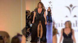 La ex modelo que hizo un papelón: se le levantó el vestido y ¿no tenía nada?