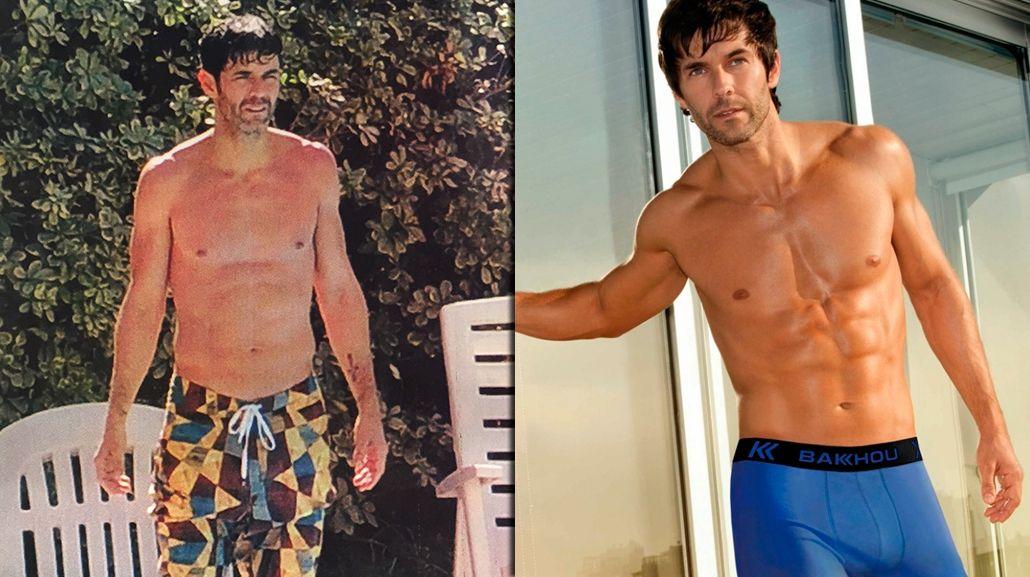 ¿Dónde quedaron los abdominales?: las fotos que desfavorecen el físico de Mariano Martínez