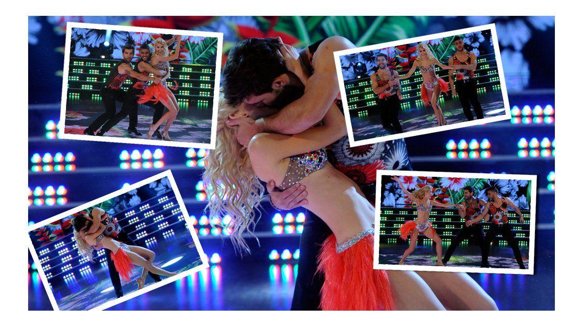 Show de besos entre Candela Ruggeri y Agustín Sierra en el Bailando y presentación formal en vivo