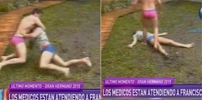 Gran Hermano: Francisco se dislocó el hombro por una pelea con Mariano: el video