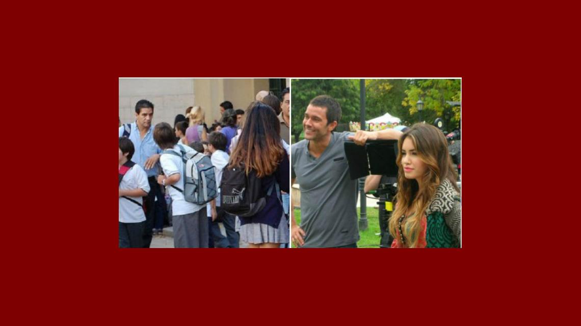 ¿Más pruebas de un romance? Lali Espósito acompañó a Mariano Martínez al colegio de su hija