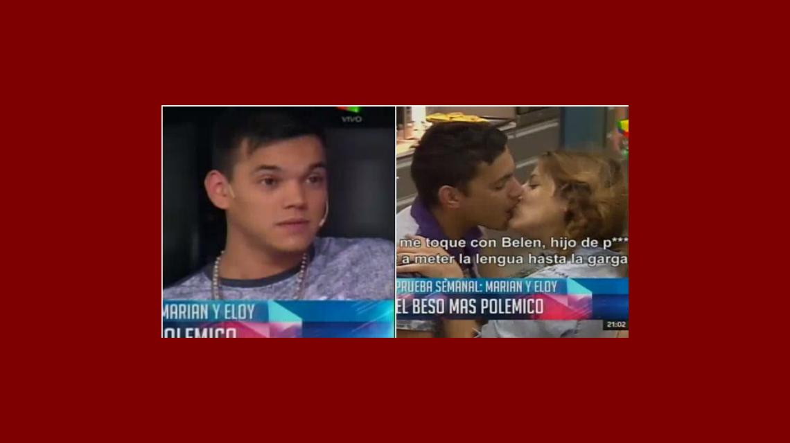 Gran Hermano: la reacción de Brian al ver el largo beso entre Marian ¡y su hermano!