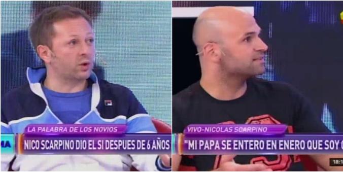 Nicolás Scarpino, junto a su marido en televisión: Es hermoso cómo Sergio me bancó para blanquearlo