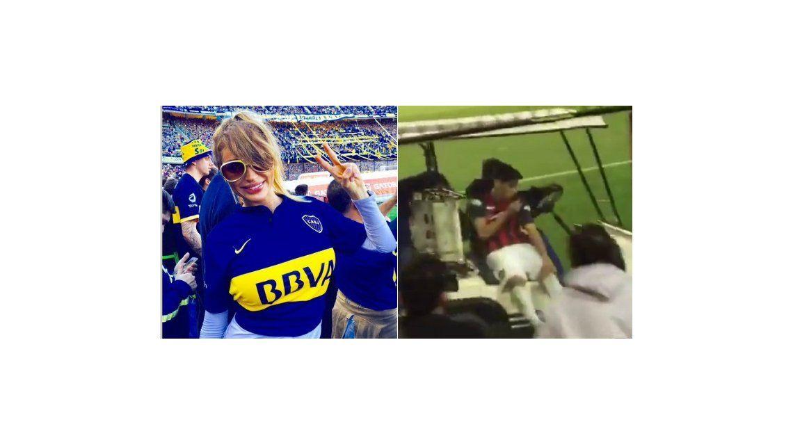 Vicky Xipolitakis escrachó a un jugador de San Lorenzo en pleno partido con Boca: mirá lo que pasó