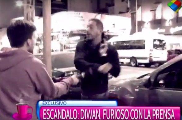 Ariel Diwan agredió a un periodista a la salida del teatro: llamó para aclarar y se peleó en vivo