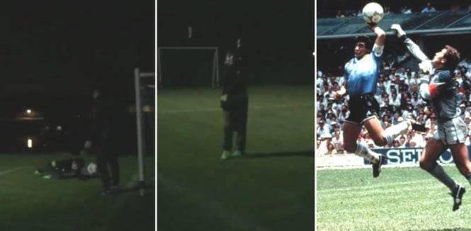 La manito de Dios: mirá el gol que hizo Benjamín Agüero imitando a Diego Maradona