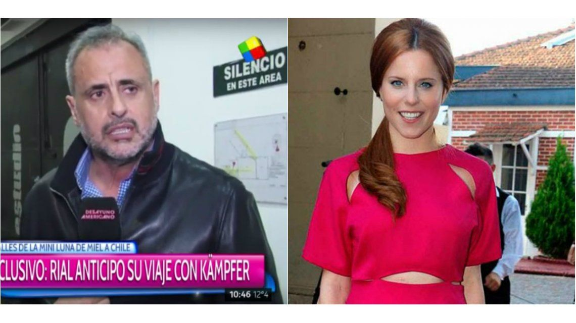 Jorge Rial y Agustina Kampfer viajaron a Chile: Estamos en un gran momento