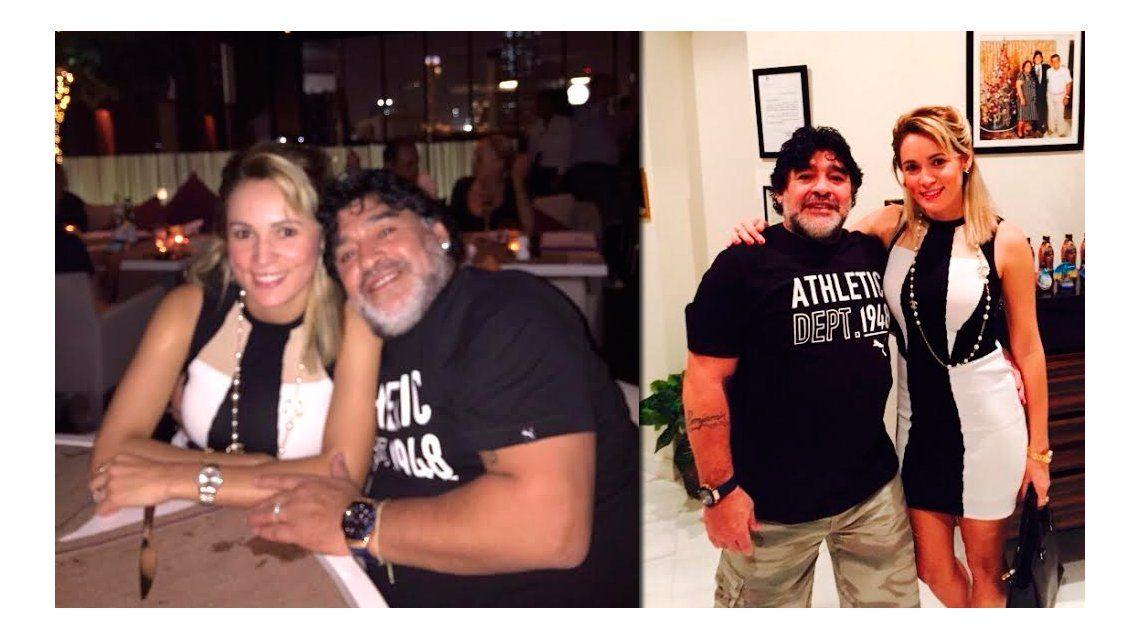 Las fotos de la cena lujosa de Diego Maradona y Rocío Oliva en Dubai
