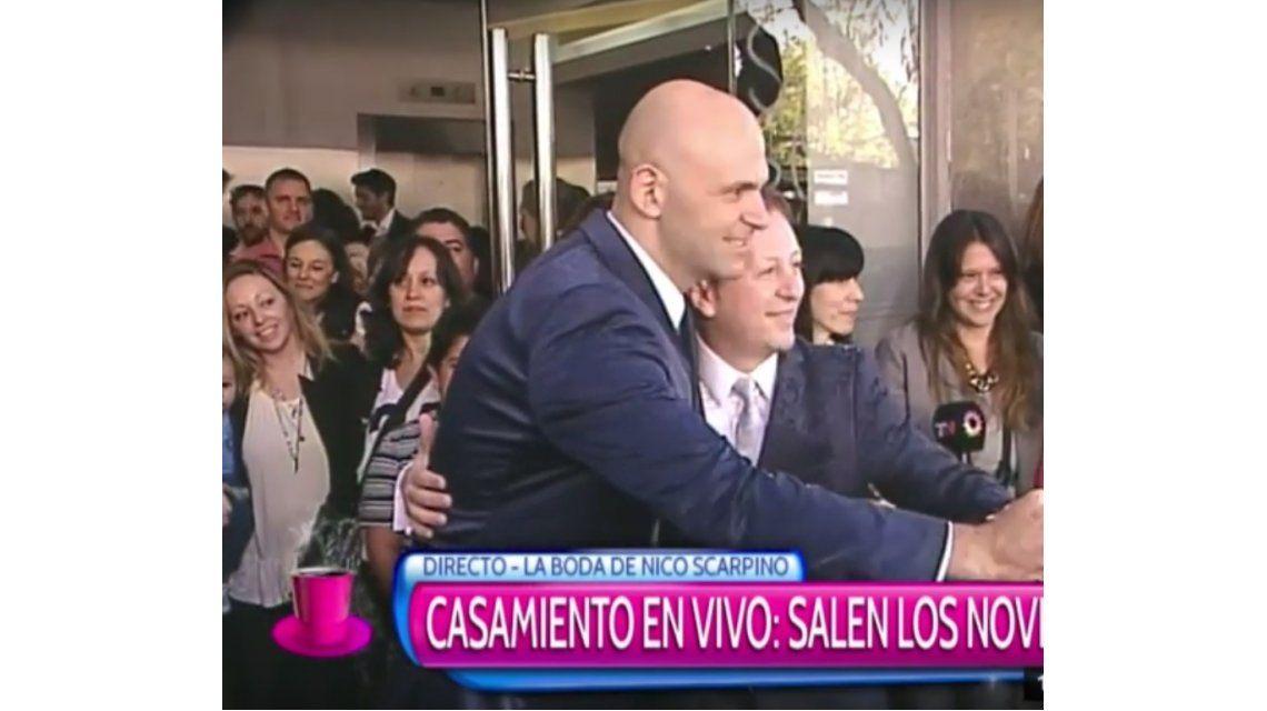 Se casó Nicolás Scarpino con su pareja Sergio: Gracias a todos