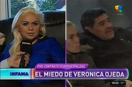 En plena guerra con Maradona y Oliva, Verónica Ojeda denuncia: Me siguió un auto, tengo miedo por Dieguito Fernando