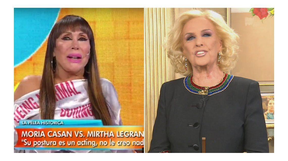 Moria Casán vs Mirtha Legrand: Con las barbaridades que dice no puede hablar de dictadura