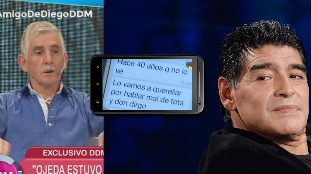 Diego Maradona desenmascaró a su falso amigo: Es un bol... del barrio; lo voy a querellar