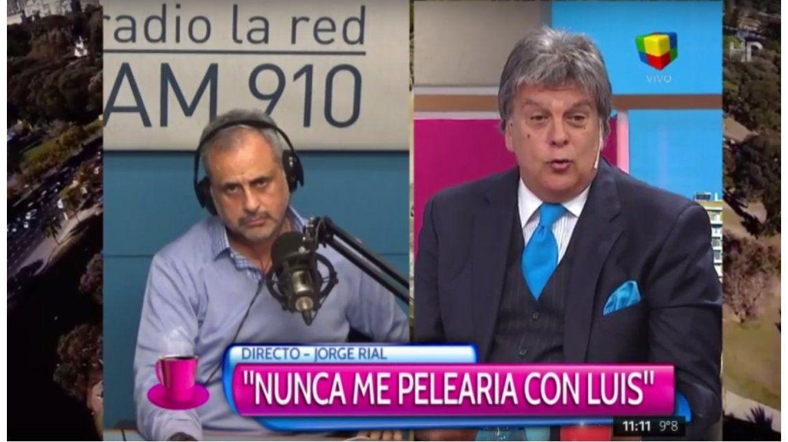 El cruce en vivo de Jorge Rial y Ventura: Nunca me pelearía con Luis
