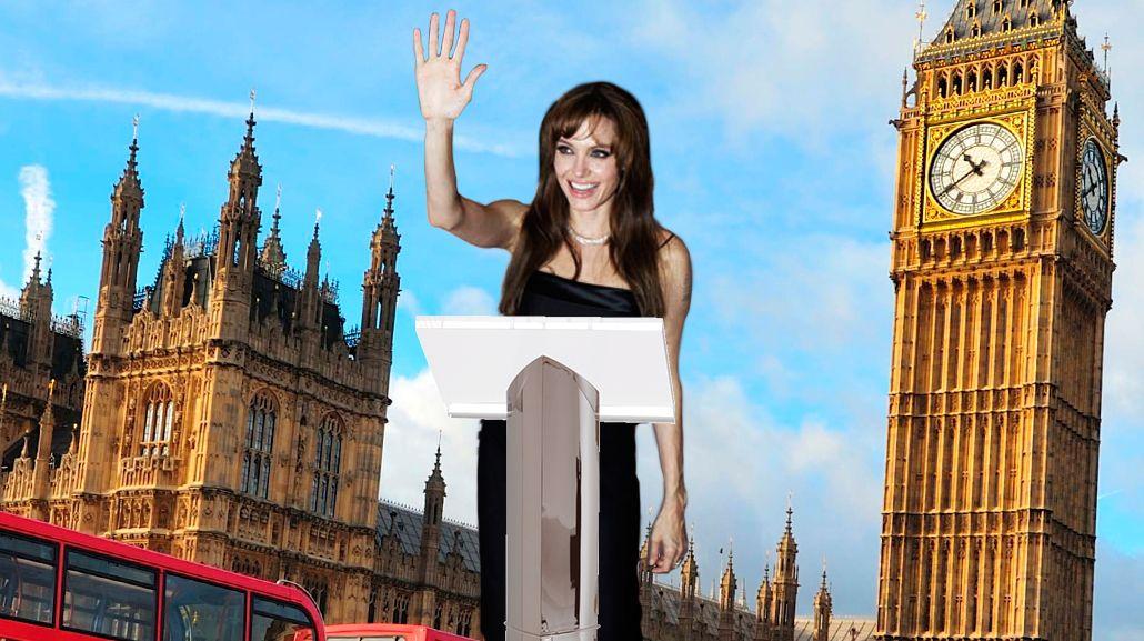 Con sus 37 kilos, Angelina Jolie planea vivir en Londres para dedicarse a la política