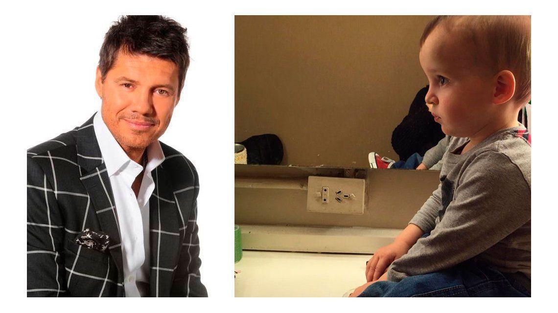 El tierno mensaje de Marcelo Tinelli con una foto de su hijo Lorenzo