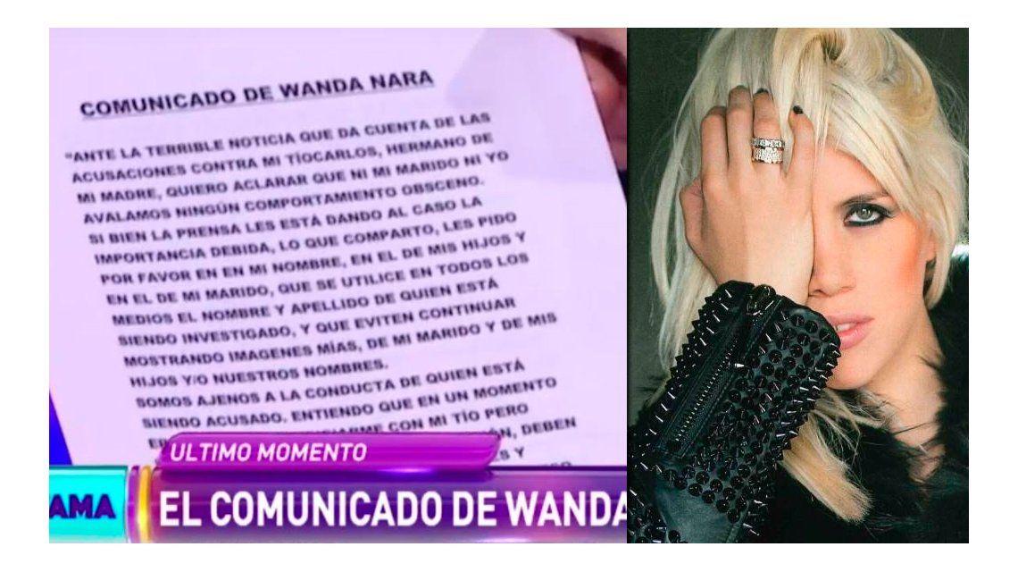 El comunicado de Wanda Nara ante la grave situación de su tío Carlos Colosimo