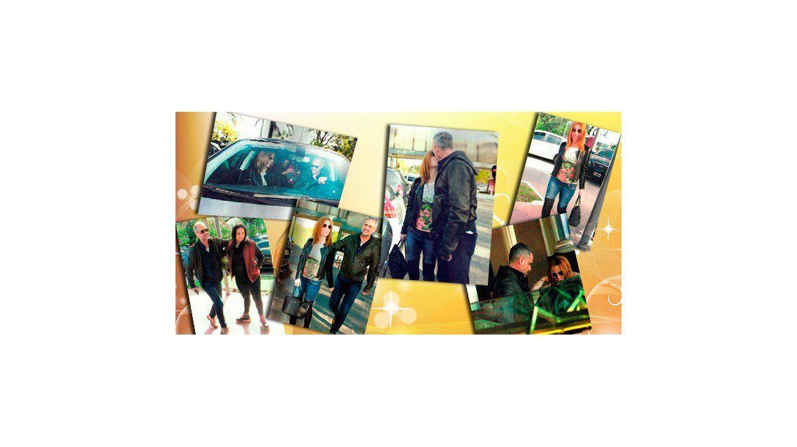 Las fotos de Jorge Rial y Agustina Kämpfer: el beso, junto a las hijas del conductor, Rocío y Morena