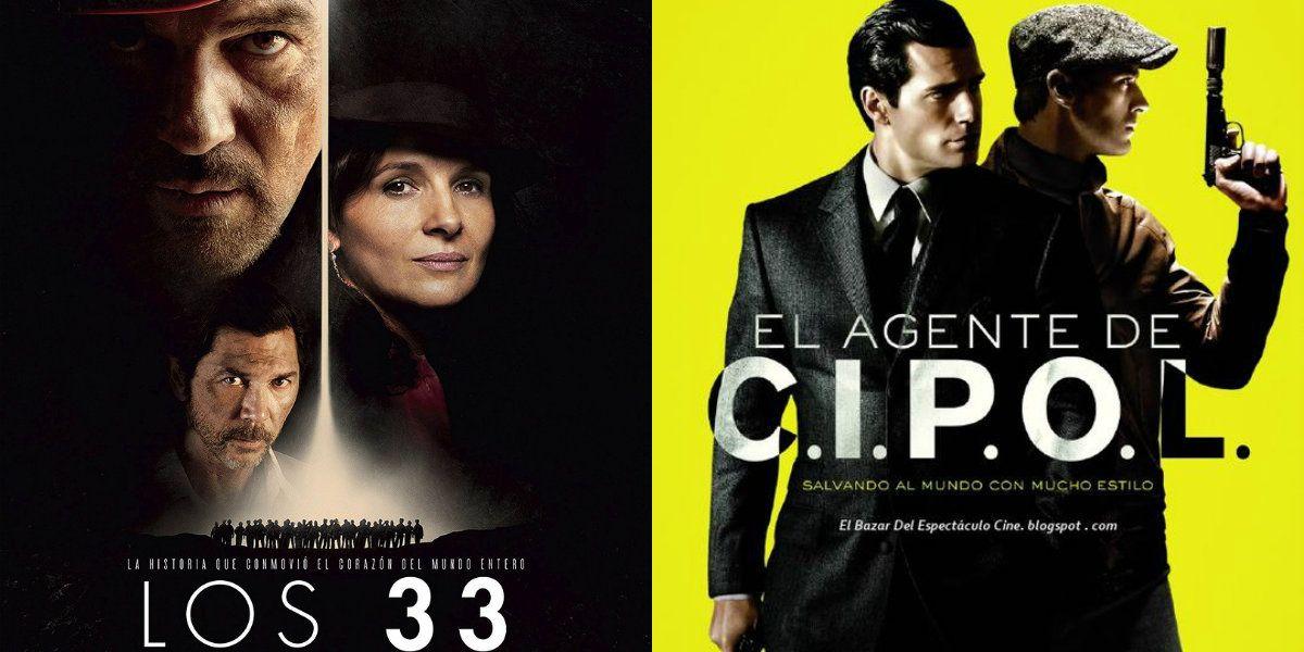 Los estrenos de cine de esta semana: Los 33 y El agente de CIPOL