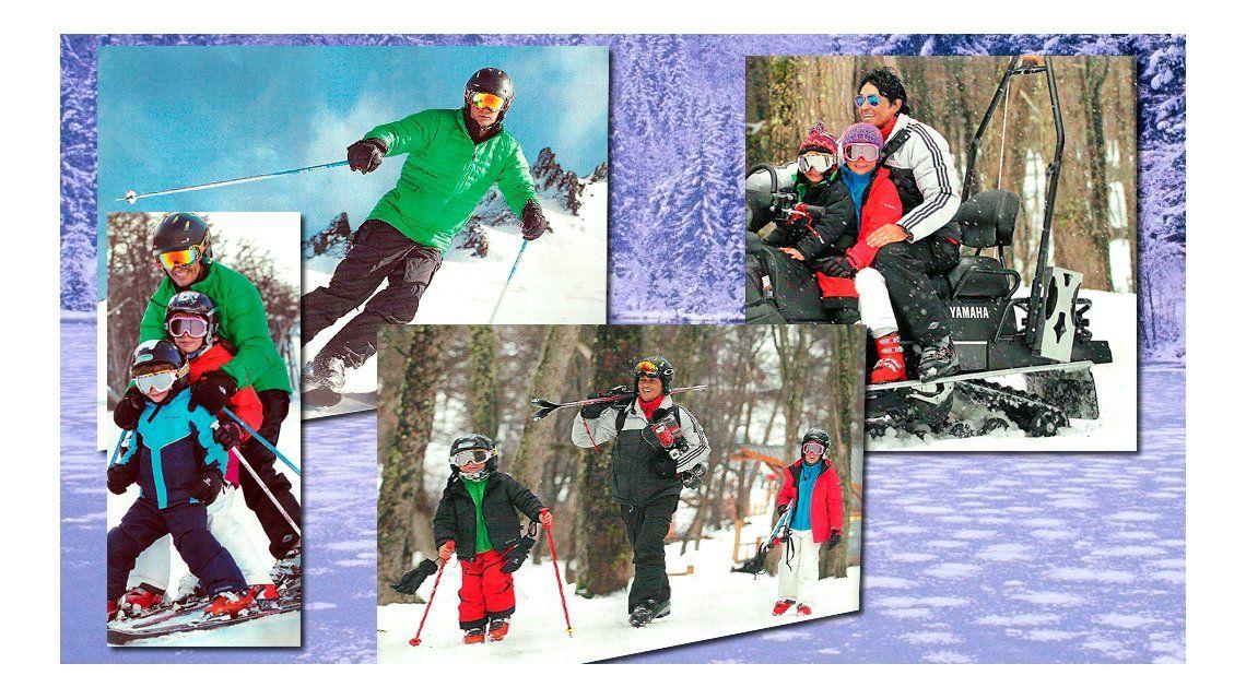 Las vacaciones de Sebastián Estevanez en la nieve, a días de ser padre