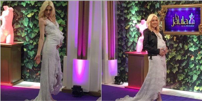 Militta Bora, más densa que nunca: ahora desfiló con un vestido de novia con ¿panza de embarazada?