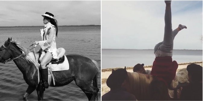 La China Suárez tuvo una inolvidable experiencia con caballos: fotos y video de una gran hazaña