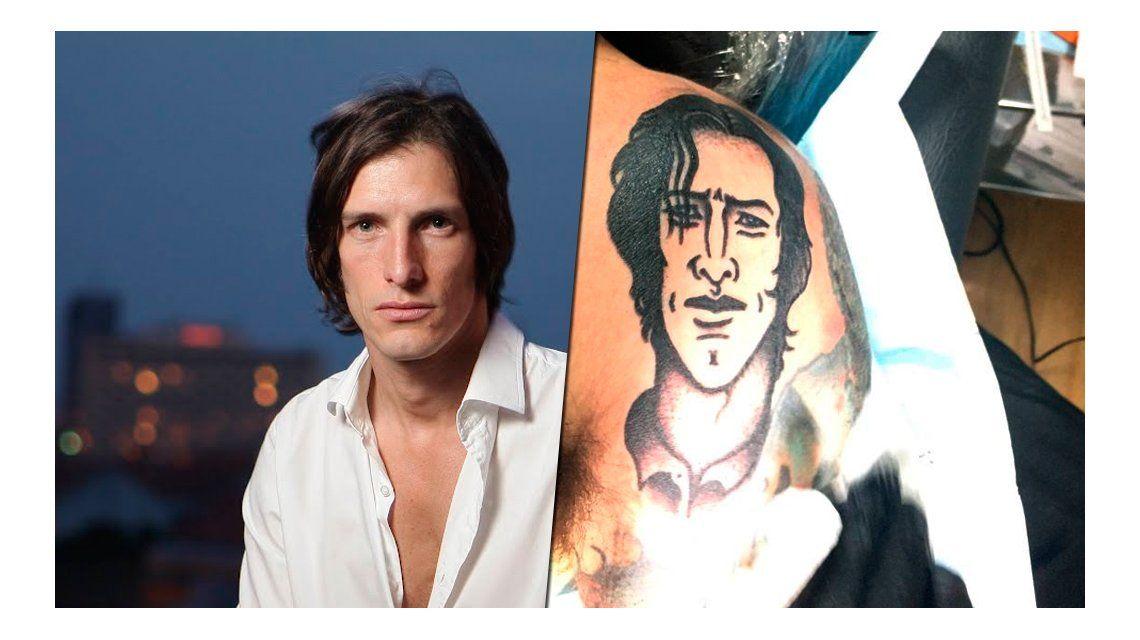 Un fanático de Iván de Pineda se tatuó su cara en el hombro