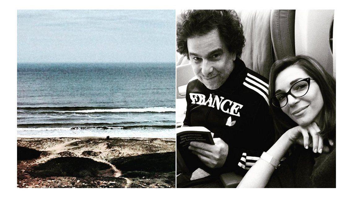 Andrés Calamaro y Micaela Breque, juntos: trabajo y amor, de la mano