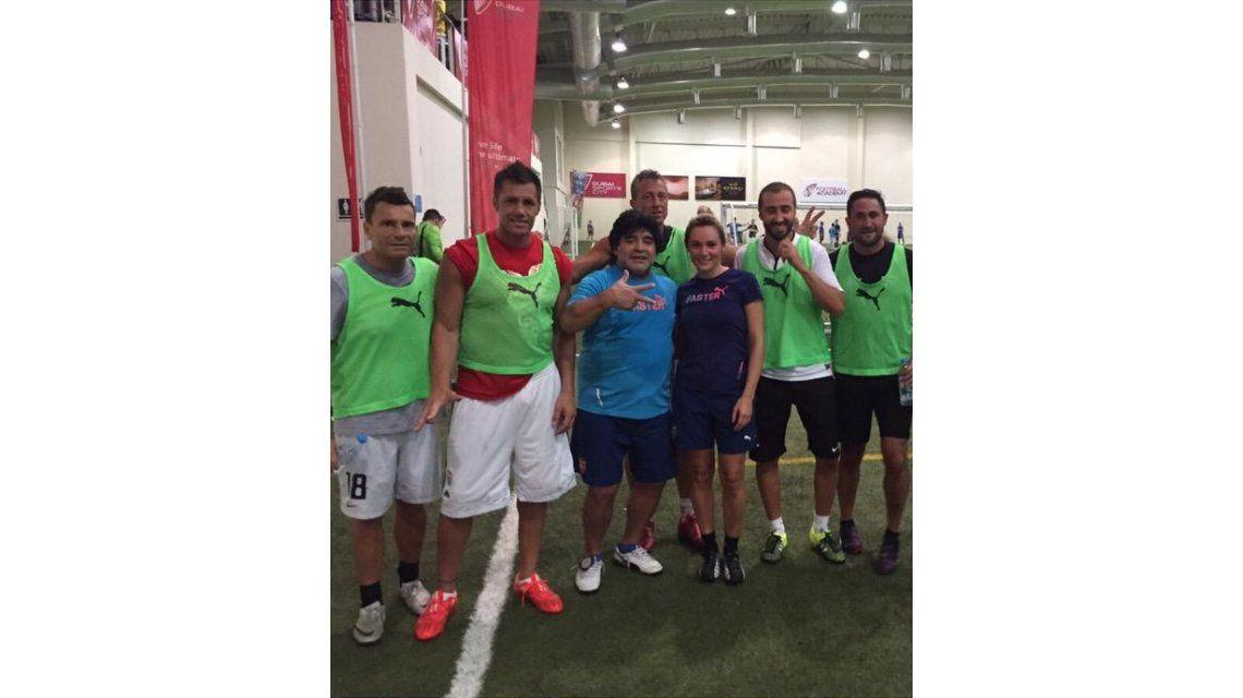 La primera foto de Diego Maradona y Rocío Oliva juntos en Dubai