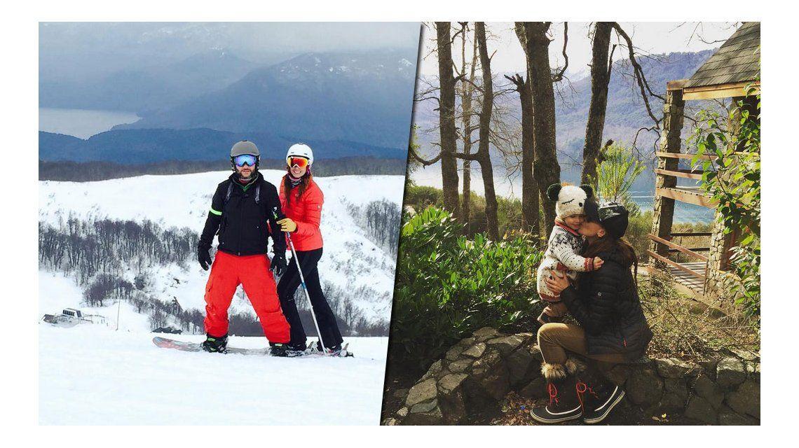 Las vacaciones de Débora Bello, Diego Torres y Nina en el sur