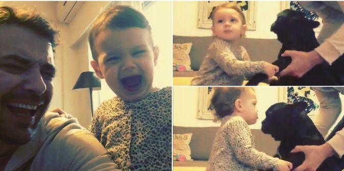 Nuevo video de Pedro Alfonso con su hija Olivia, que ya muestra sus dotes de actriz