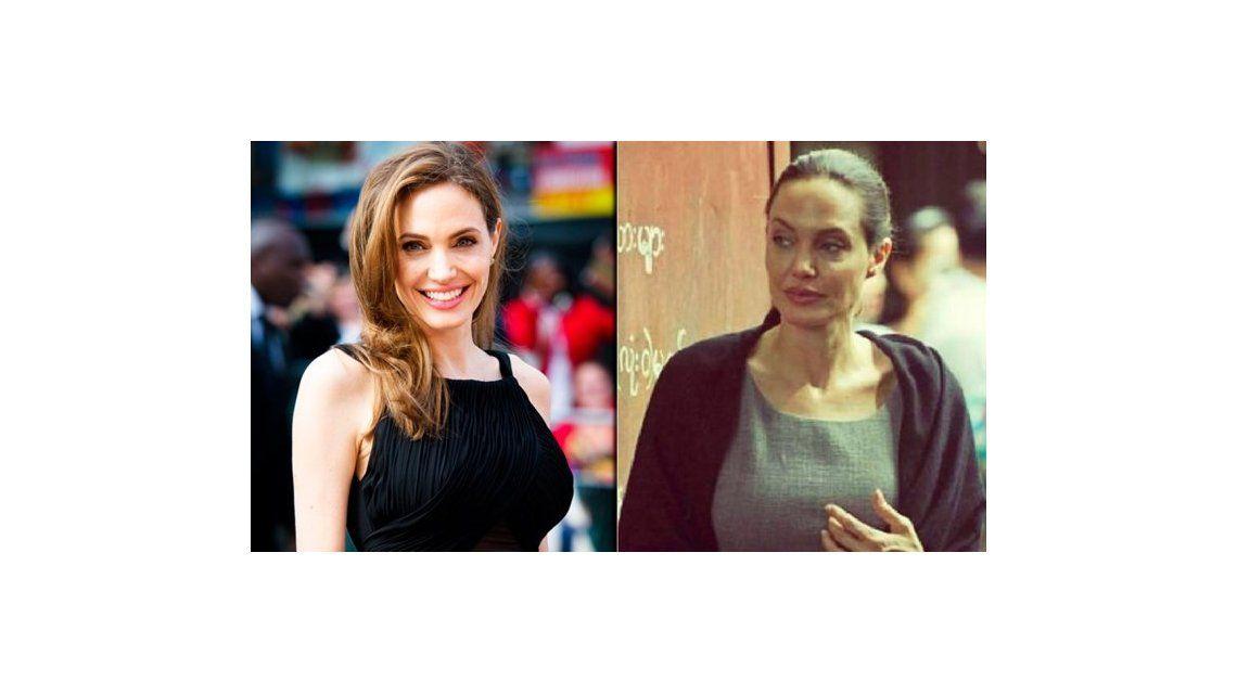 En medio de la polémica por su peso, el antes y después de Angelina Jolie