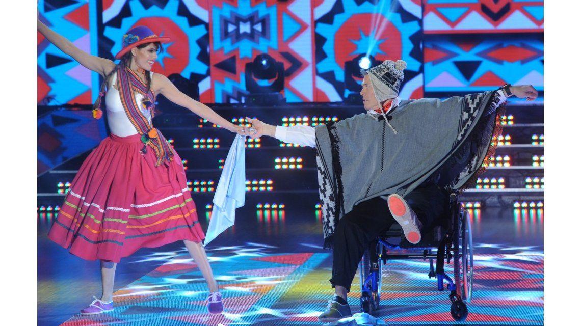 Lesionado, Fernando Burlando bailó el folclore en silla de ruedas