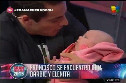 Francisco Delgado se reencontró en vivo con su hija Elena