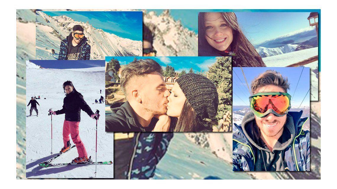 Fede Bal y Barbie Vélez: amor, besos y bromas en la nieve