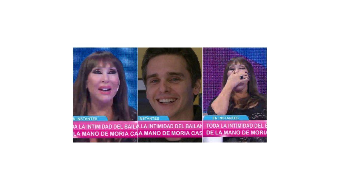 ¿Estamos en el aire? Moria Casán piropeó en vivo a un productor de Mariana Fabbiani
