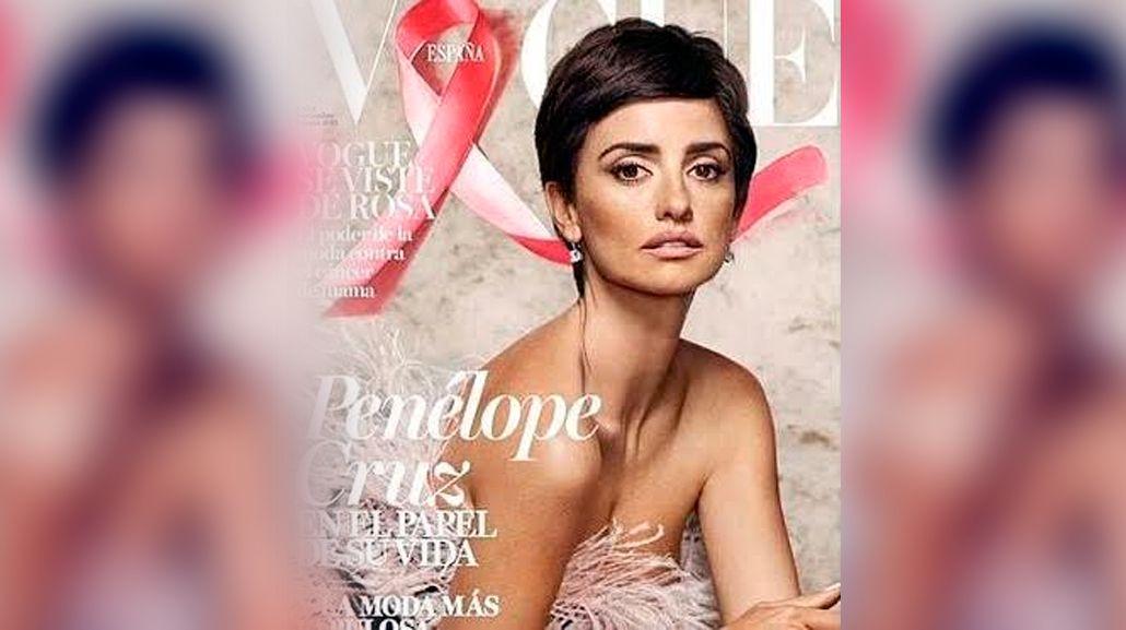 Penélope Cruz, en la portada de Vogue contra el cáncer de mama
