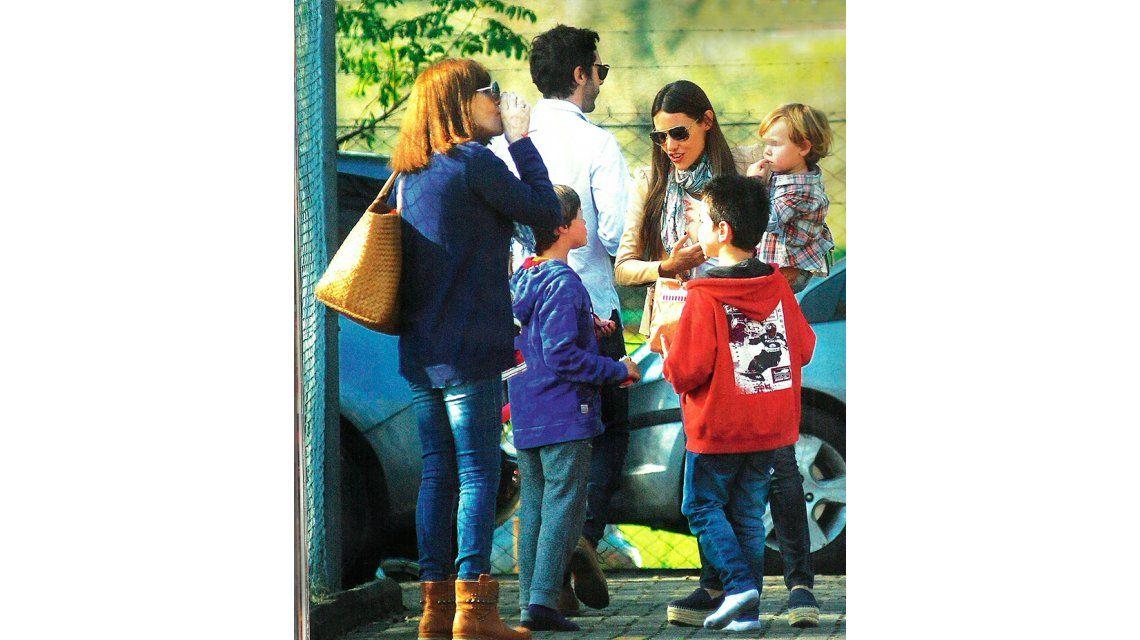 Pampita y Vicuña, juntos: celebraron el Día del Niño con sus hijos Bautista y Beltrán