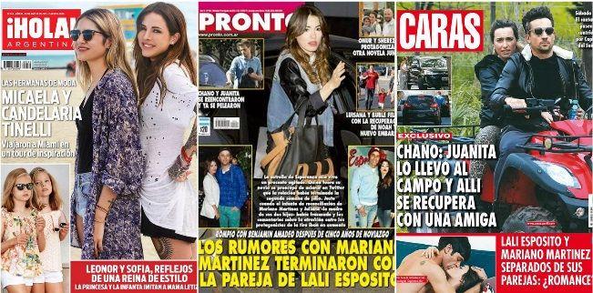 El viaje de Cande y Mica Tinelli a Miami; ¿qué pasa entre Lali Espósito y Mariano Martínez?; y la nueva amiga de Chano Chanpertier