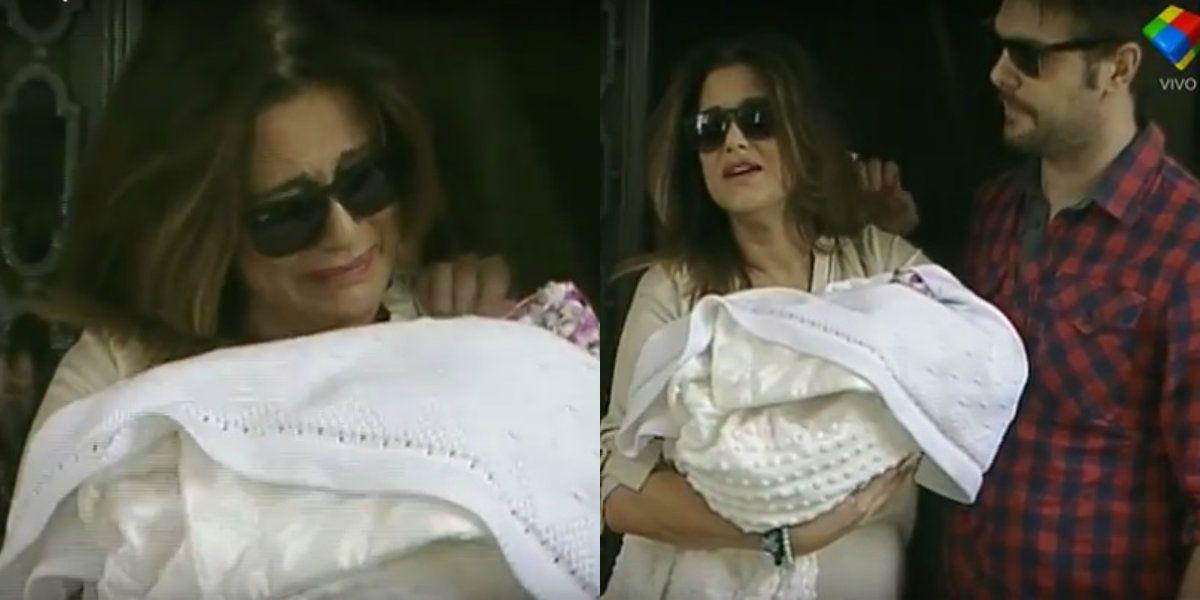 Muy emocionada, María Fernanda Callejón presentó a su hija Giovanna