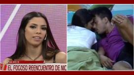 Nicolás y Maypi, enamorados afuera de la casa: Mañana se viene a vivir conmigo