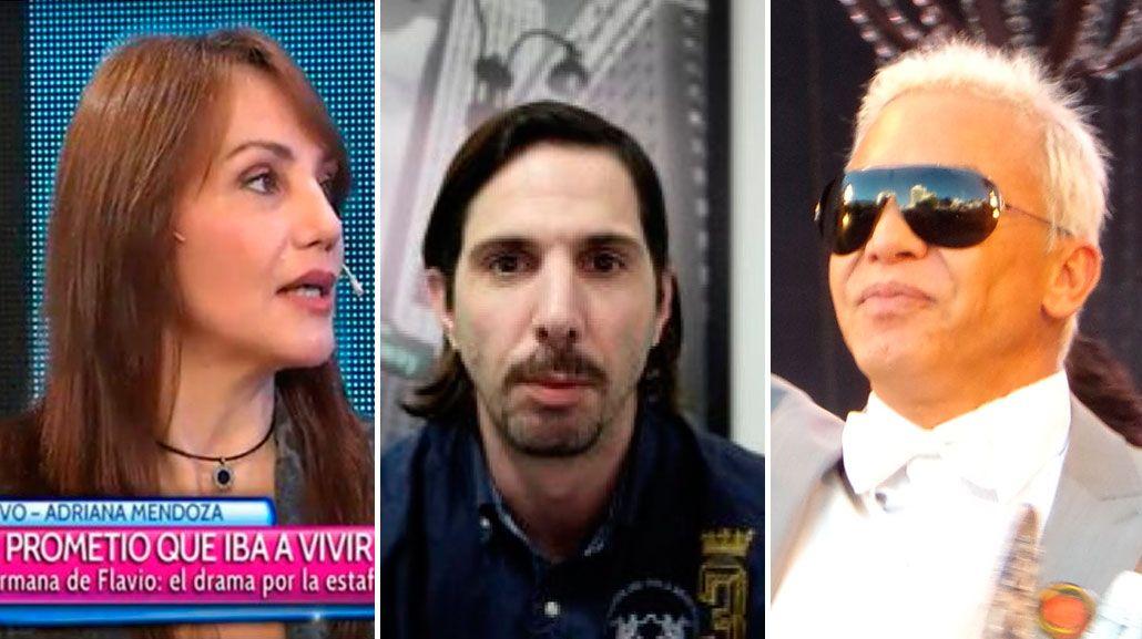 El gigoló acusado de estafa, desmintió los dichos de Adriana, la hermana de Flavio Mendoza