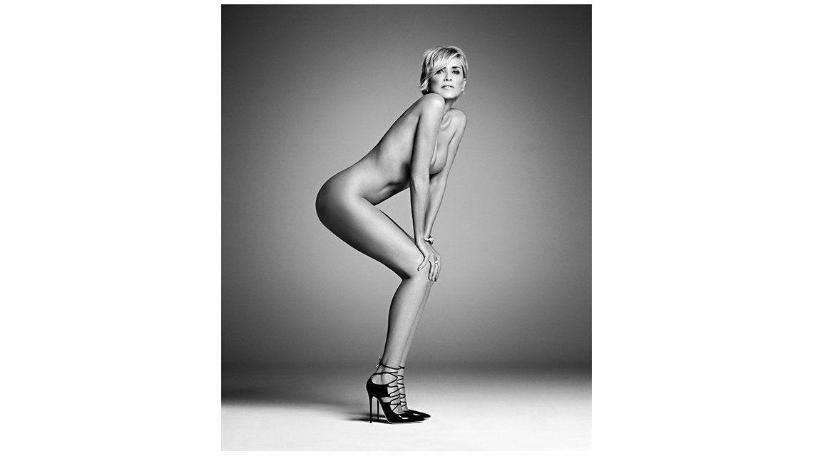 El desnudo de Sharon Stone, espléndida a los 57 años