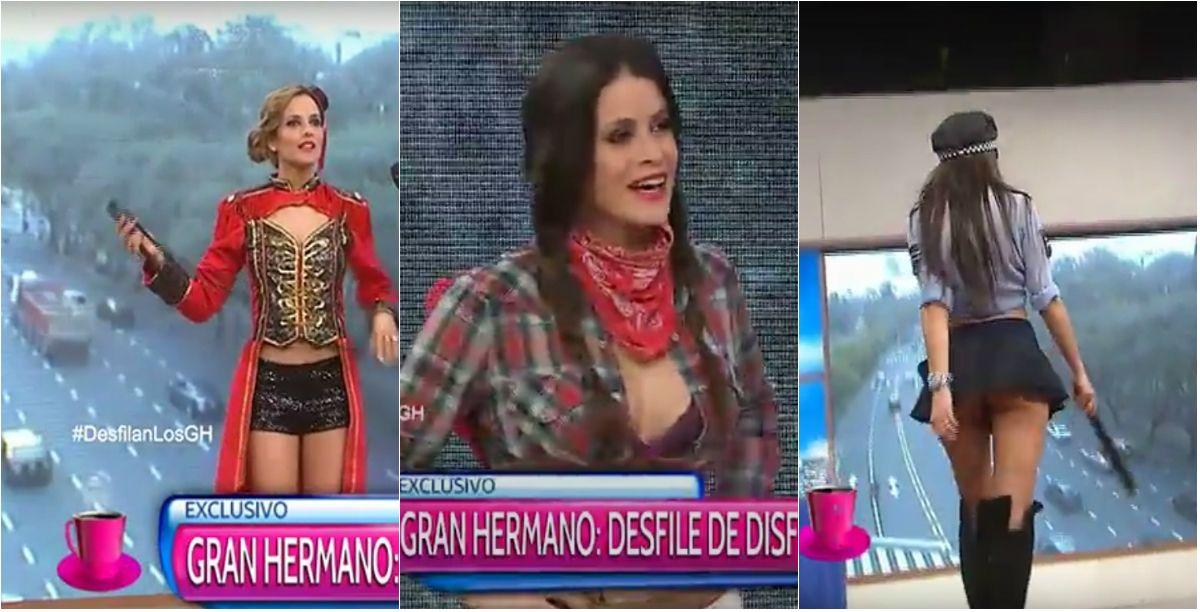 Las chicas de Gran Hermano desfilaron con disfraces provocativos