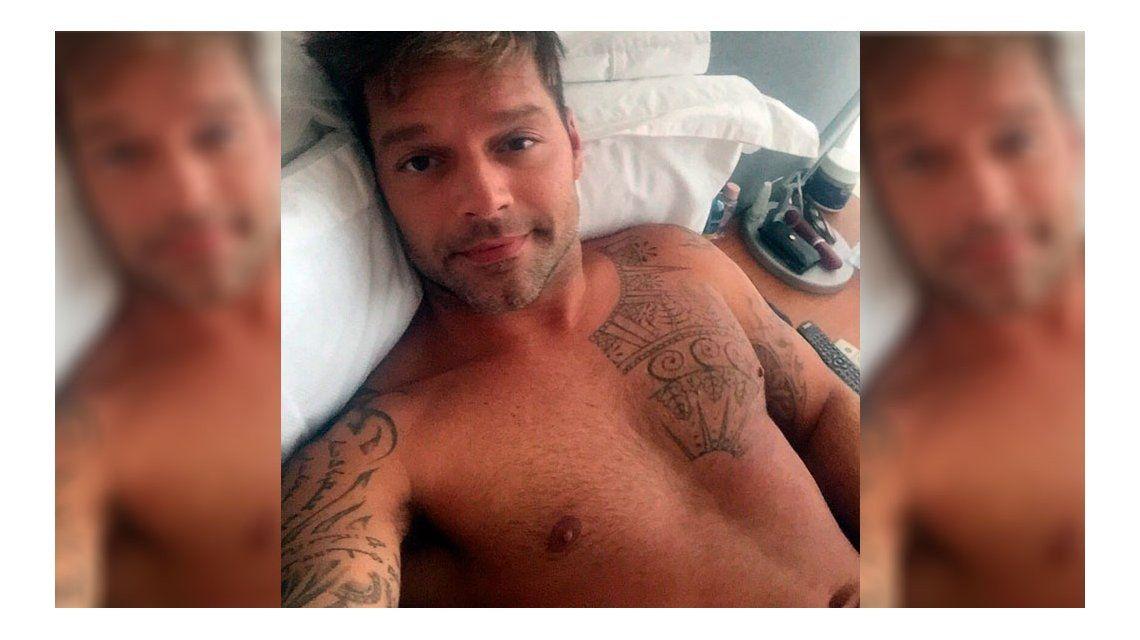 La selfie caliente de Ricky Martin
