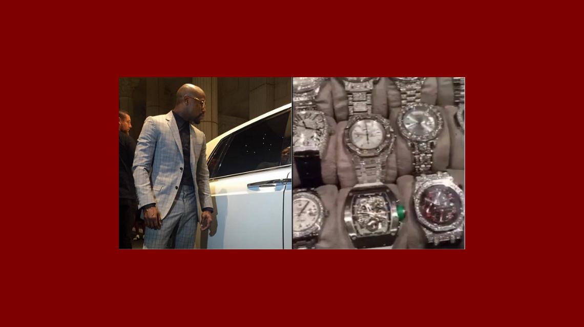 Mayweather sigue usando Instagram para ostentar: mostró otra montaña de dólares y su colección de relojes