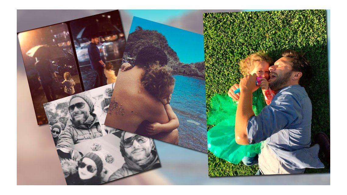 Con un look hipster, Diego Torres es papá full time: las tiernas fotos con su hija Nina