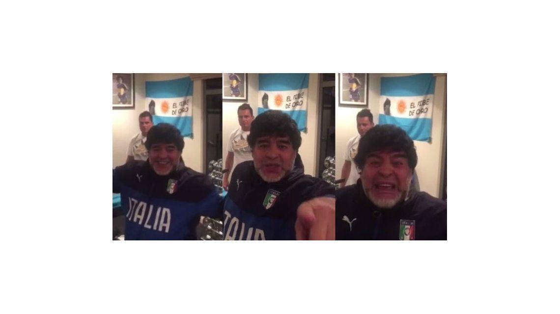Diego Maradona destrozó al novio de Claudia Villafañe con un nuevo video en la red