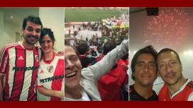 Euforia y festejos de los famosos hinchas de River por la Copa Libertadores